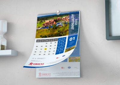 Orient Construction Calendar