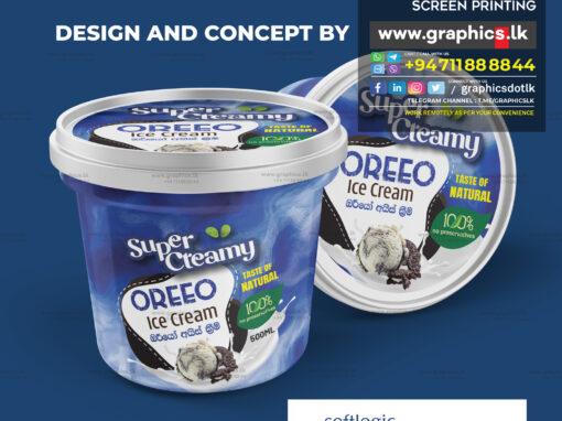 Ice cream label designs