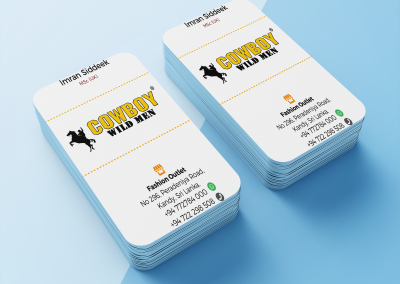 Cowboy Wild Men Business Card