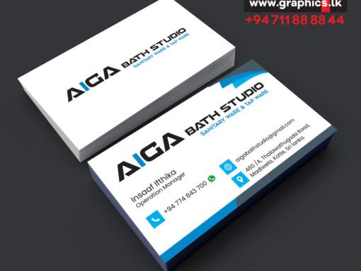 Aiga Bath Studio Business Card