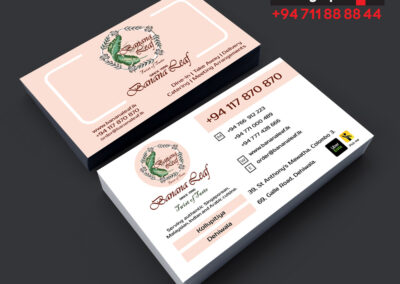 Business card restaurant