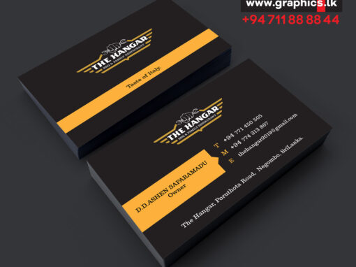 Business card for food store