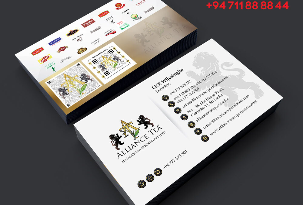 Business card tea supplier