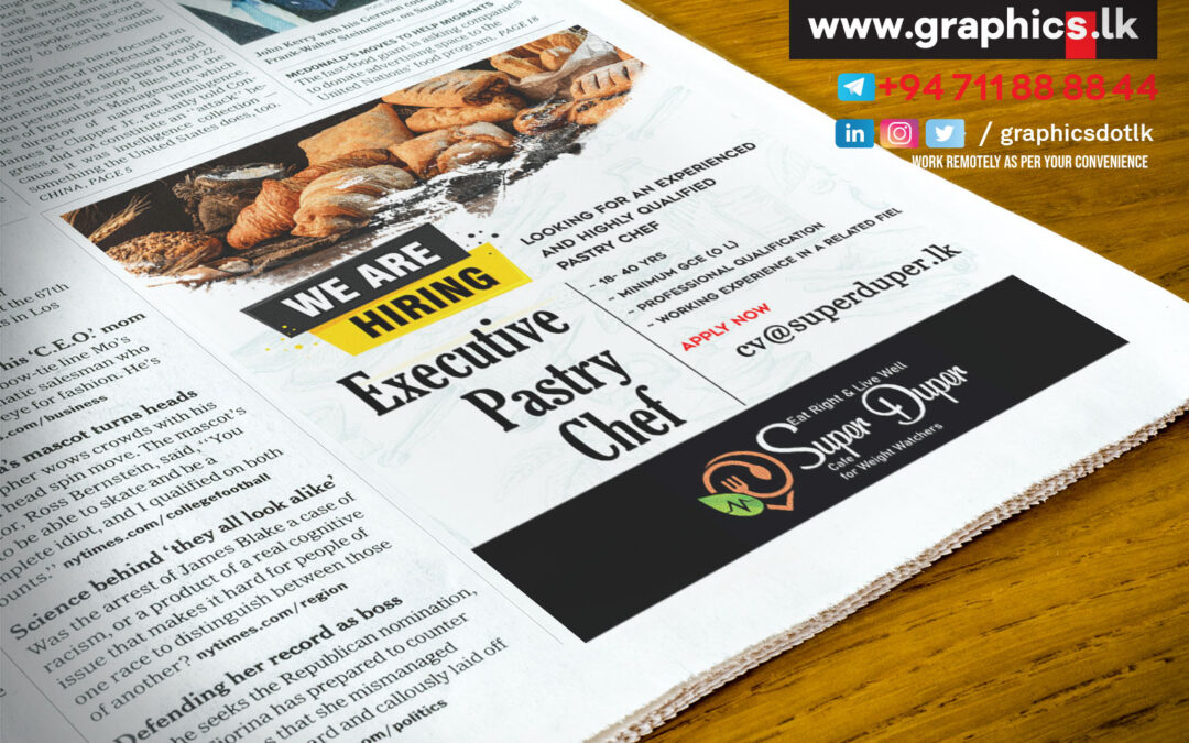 News Paper Advertisement  for Foods