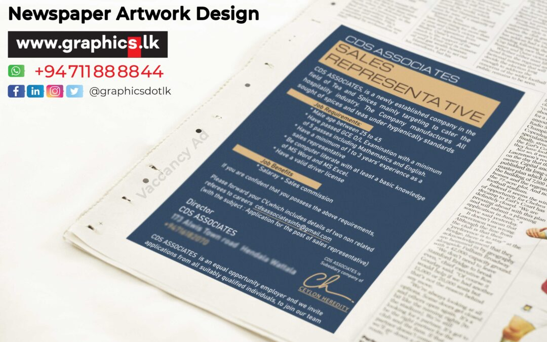 Paper Ad for Manufacture Industry