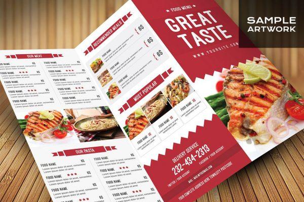 Creative menu card design
