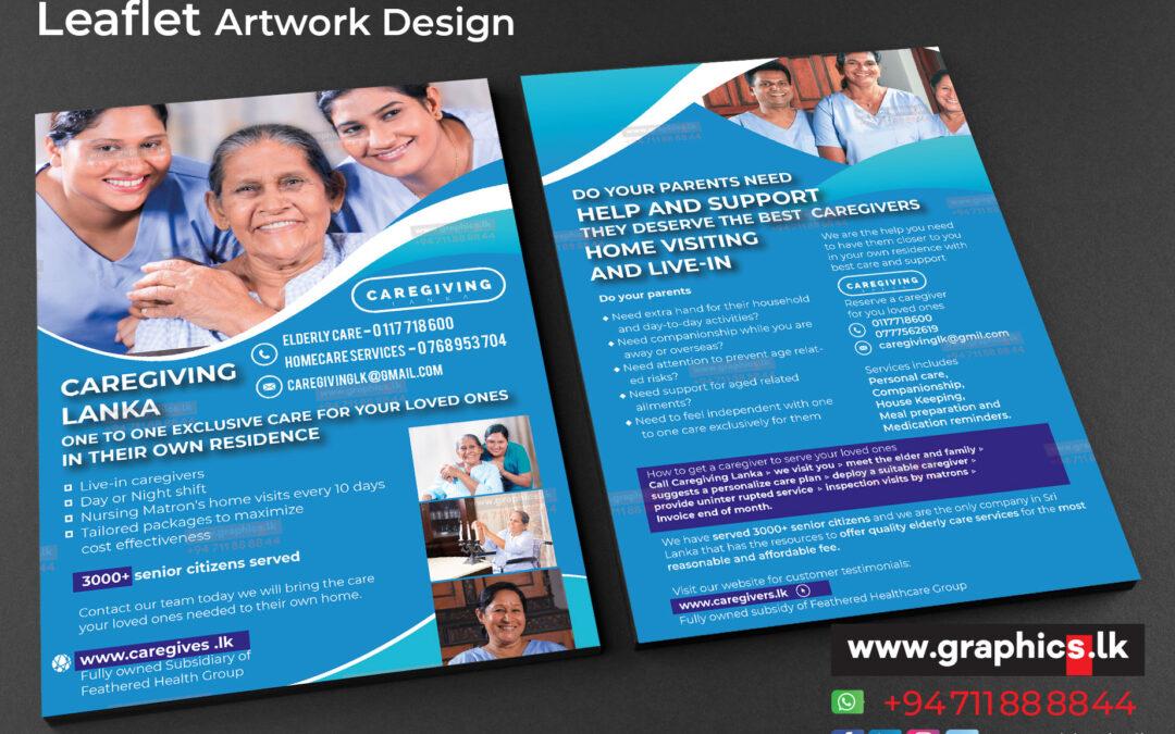 leaflet for Care giving Center