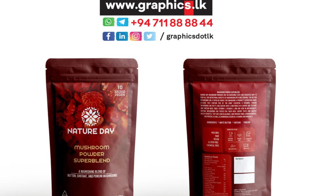 Label Design for Mushroom Powder