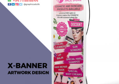 X-banner for Cosmetic product