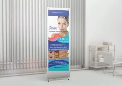 Rejuvface Cosmetix X Banner Design