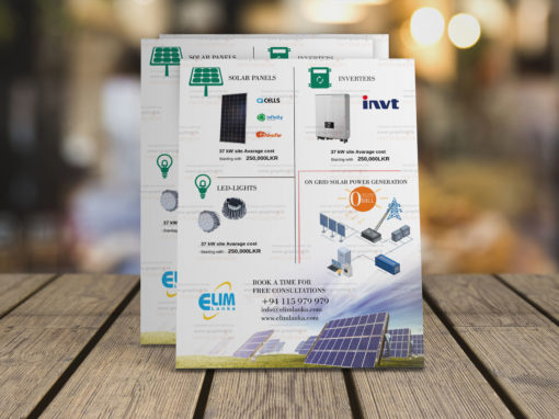 Elim Lanka Brochure Design