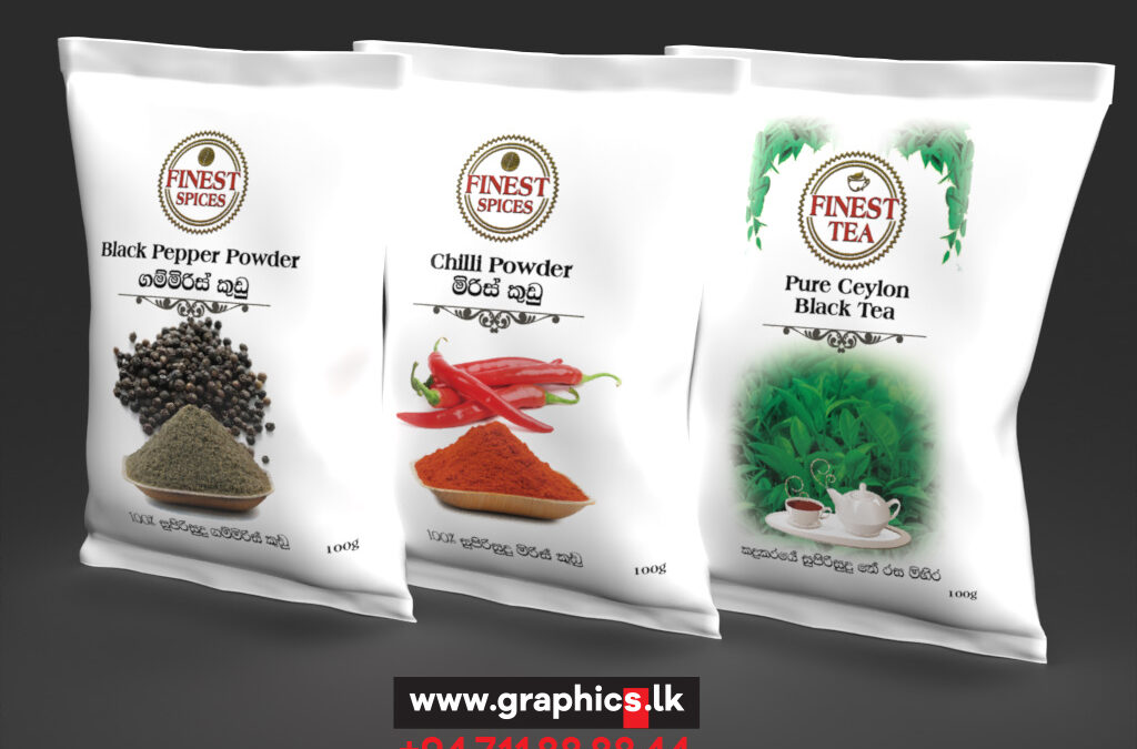 label and packaging in spices product