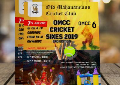 Old Mahanamiyan Cricket Club Flyer Design