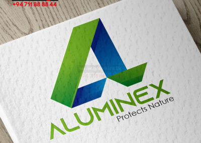 Aluminex logo Design