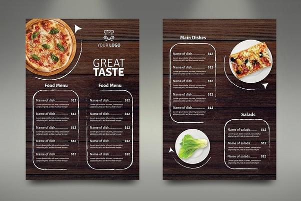 restaurant menu design services  creative and affordable