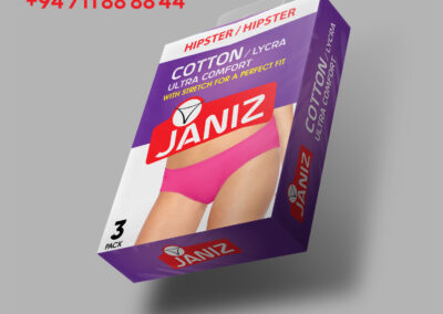 label and packaging in undergarment product