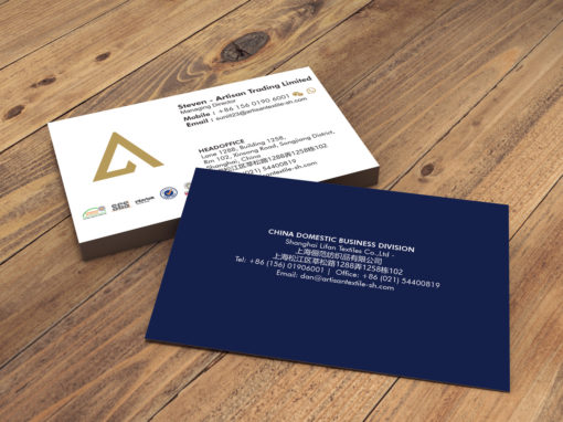 Textile Industry Business Card Design